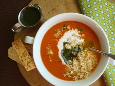 This Mediterranean tomato soup recipe is versatile, healthy and easy to prepare. Dress up or down with healthy add-in ingredients.