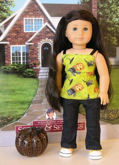 Jack O Lantern outfit for American Girl or 18 inch doll on Etsy, $24.00
