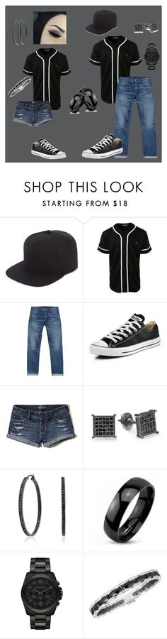 """""""Couple things!"""" by beyourself-lovewhoyouare ❤ liked on Polyvore featuring Stussy, LE3NO, 3x1, Converse, Hollister Co., Bling Jewelry, West Coast Jewelry, Michael Kors and Chanel"""