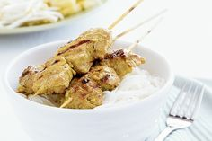 Make this Vietnamese-inspired pork and lemongrass kebabs and serve with a salad. Cooking Tips, Cooking Recipes, Pork Fillet, Pork Bacon, Grill Plate, Tasty, Yummy Food, Recipe Sites, Kebabs