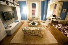 Silver Screen Style: Carrie's Blue Apartment in Sex and the City | House Nerd