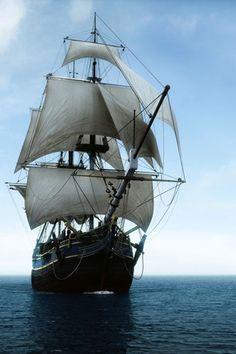 Ocean Sea Ship:  A sailing ship on the ocean.