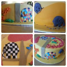 Elephants birthday cake