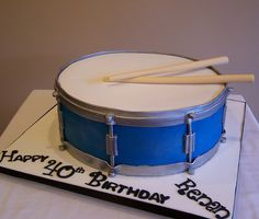 Drum cake by cakespace - Beth (Chantilly Cake Designs), via Flickr