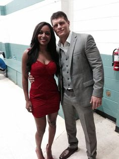 WWE Superstar Cody Rhodes  his wife Brandi, known as WWE Diva Eden Beautiful interracial couple #Love #WMBW #BWWM Find your #InterracialMatch Here interracial-dating-sites.com