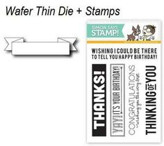 *PREORDER Simon Says STAMPtember™ DIE & STAMPS SET SAYINGS WITH BANNER SetSB3