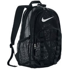 Nike Brasilia XL Mesh Backpack ❤ liked on Polyvore featuring bags, backpacks, accessories, nike, mesh bag, nike bags, day pack backpack, knapsack bag and nike backpacks