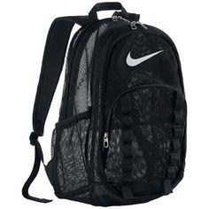 Nike Brasilia XL Mesh Backpack ❤ liked on Polyvore featuring bags, backpacks, nike bag, nike, nike backpack, day pack backpack and knapsack bag