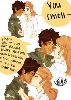 Leo Valdez and Calipso. You Smell by on DeviantArt Percy Jackson Fan Art, Percy Jackson Memes, Percy Jackson Books, Percy Jackson Fandom, Percabeth, Solangelo, Magnus Chase, Fan Fiction, Dibujos Percy Jackson