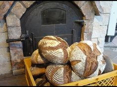 bread baking day - one day with the brick oven - YouTube