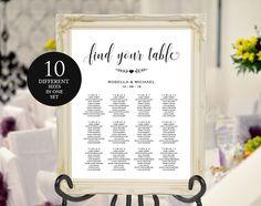 Wedding seating chart by WeddingPrintablesCo on @creativemarket