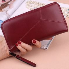 Zip Around PU Leather Wallet #>=#>=#>=#>=#> Click on the pin to check out discount price, color, size, shipping, etc. Save and like it!