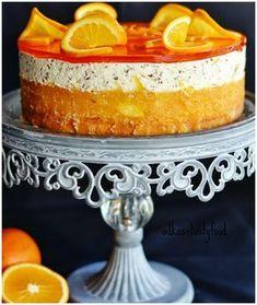 Hartley's orange jelly -Pomarančovo-jablkova stracciatella torta How Sweet Eats, Vanilla Cake, Bakery, Sweet Treats, Cheesecake, Deserts, Food And Drink, Pudding, Yummy Food