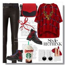 """""""A Beautiful Day for cold coffee!"""" by fabchiclotie ❤ liked on Polyvore featuring Boutique Moschino, rag & bone, Kendra Scott, Dsquared2, Bling Jewelry and ootd"""