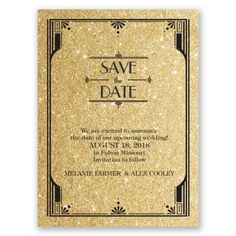 Glamorous   Faux Glitter   Save The Date Card. Great Gatsby WeddingGlamorous  ...