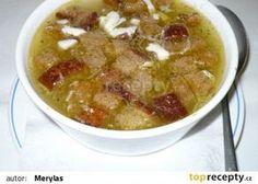 Česneková polévka - sváteční