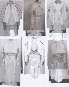 Fashion Sketchbook - fashion design development; fashion student portfolio // Roberta Einer
