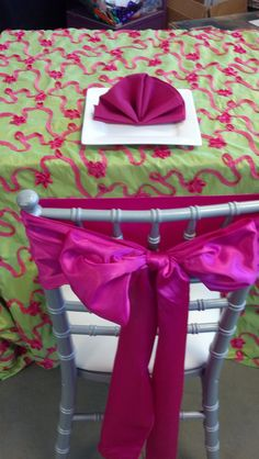 Specialty linen set up in the showroom