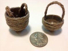 Tutorial: Miniature Dollhouse Baskets
