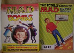 Vintage Mad Magazines 1987 Two Supers vintage Mad Magazines from the 1980s Satire Humor 1980s TV Satire Political Satire Alfred E Newman by VigorouslyVintage on Etsy