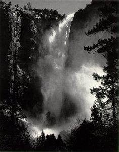 Ansel Adams  Bridal Veil Fall,  Yosemite Valley  c. 1927    ©The Trustees of the  Ansel Adams Publishing Rights Trust