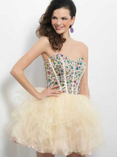 Hotsale Rhinestones Tulle Short Formal Dress Homecoming Dress/Prom Dress 9653