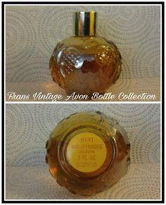 Vintage Avon Bird of Paradise Cologne Glass Bottle Decanter