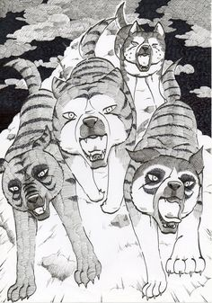 Some fame for these Kai-dogs: Dodo, Shouji, Buru and Shigure. Protect the Gajou Werewolves, Make Me Happy, Saga, Weed, Lime, Coconut, Deviantart, Silver, Pictures