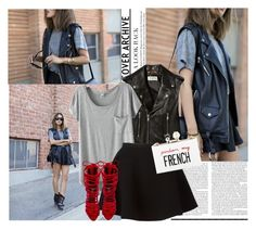 """""""Sem título #677"""" by mariaeduardacs ❤ liked on Polyvore featuring Yves Saint Laurent, Neil Barrett, Jeffrey Campbell, Cecilia Ma, women's clothing, women's fashion, women, female, woman and misses"""
