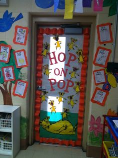 Hop On Pop & Our class door for Read Across America/Dr. Suess Day. Hop on Pop ...