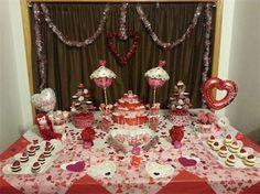 Valentine's Day Dessert Tables