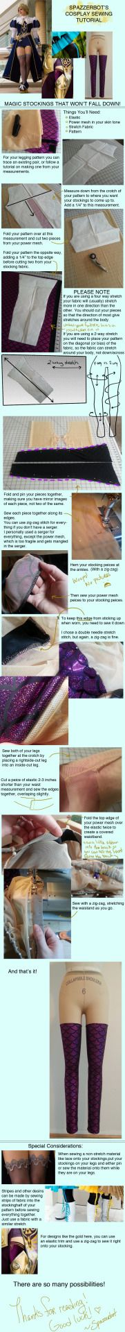 Very helpful way to make thigh high socks/stockings? Whatever they are this is a super helpful tutorial (^_^)