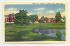 Lapeer Michigan MI Lapeer State Home Training School 1940s post card