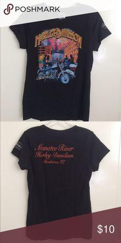 HD Tee Shirt Harley Davidson Tee Shirt from Manatee River Bradenton Florida celebration. Cool vintage style but new. Harley-Davidson Tops Tees - Short Sleeve