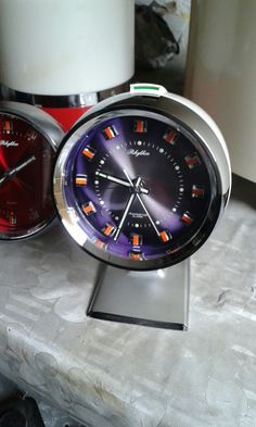 Orologio da tavolo vintage, Rhythm, Yapan, transistor, suoneria