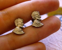 ABRAHAM LINCOLN Vintage Stud Earrings. $12.00, via Etsy.