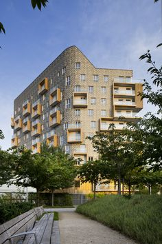 Built by Périphériques architectes in Paris, France with date 2012. Images by Sergio Grazia. Background The essence of this project is to create an eco-friendly building that takes sustainable design to new hei...