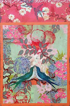 "Kathe Fraga paintings, inspired by the romance of vintage Paris and Chinoiserie Ancienne. ""Always"", 24x36 on aged frescoed panel. www.kathefraga.com"