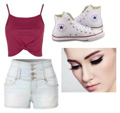 """""""Untitled #224"""" by jamiesowers14 on Polyvore featuring Topshop, LE3NO and Converse"""