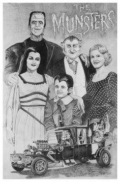 The Munsters (TV A family of friendly monsters have misadventures never quite realising why people react to them so strangely. The Munsters - Herman - Lily - Eddie - Grandpa - Marilyn. Munsters Tv Show, The Munsters, Munsters House, Tv Actors, Actors & Actresses, 1313 Mockingbird Lane, Herman Munster, Lily Munster, Yvonne De Carlo