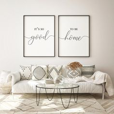 Its so good to be home print living room decor wall art above | Etsy Bedroom Prints, Bedroom Wall, Hallway Wall Decor, Living Room Wall Decor Ideas Above Couch, Over Couch Decor, Decorating A Large Wall In Living Room, Diy Wall, Art Over Couch, Wall Behind Couch
