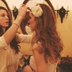 Wedding Hair with Loose Curls