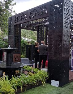 From the 2017 Melbourne International Flower and Garden Show at Carlton Gardens. QAQ Decorative Screens & Panels sponsored Water Features Direct and FMSA Architecture. Garden Show, Home And Garden, Carlton Gardens, Decorative Screen Panels, Melbourne House, Exhibition Space, Water Features, Landscape, Architecture