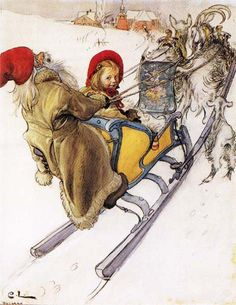 Kersti's Sleigh Ride.  Pandora`s Box: A Picture Is Worth A Thousand Words. Featured Artist: Carl Larsson