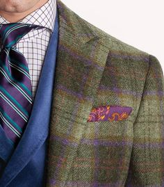 Colored men outfit. -purple-green-blue-yellow-orange-white