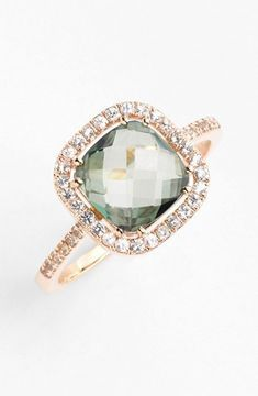 Suzanne Kalan Cushion Stone Sapphire Bezel Ring \
