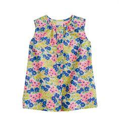 Baby tunic in garden floral