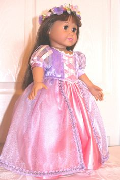 American Girl Doll Gown just like Rapunzel's