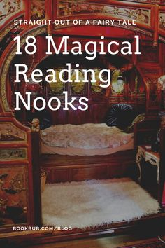 Create magic in your own home with an enchanting reading nook based on one of these ideas that are straight out of a fairy tale.  #books #readingnook #reading
