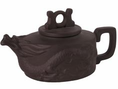 Dark Brown Mythical Dragon Chinese Yixing Clay Teapot